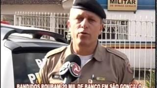Bandidos roubam 20 mil de banco em S�o Gon�alo do Par�