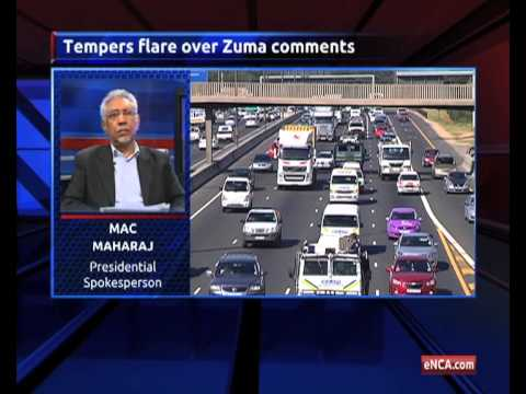 Tempers flare over Zuma comments