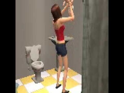 Giving birth in the bathroom the sims 2 youtube for Giving birth alone in a bathroom
