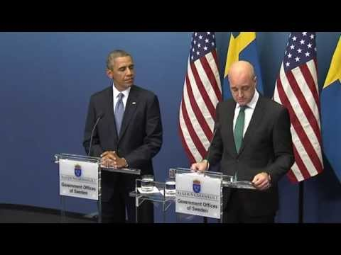 Reinfeldt speaks on Obama's press conference