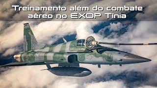 A segunda edição do Exercício Operacional Tínia, realizado até o dia 27 de novembro nas Alas 3 e 4, em Canoas e Santa Maria, no Rio Grande do Sul, tem como objetivo manter a operacionalidade da Força Aérea Brasileira e de seus Esquadrões Aéreos.