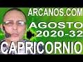 Video Horóscopo Semanal CAPRICORNIO  del 2 al 8 Agosto 2020 (Semana 2020-32) (Lectura del Tarot)
