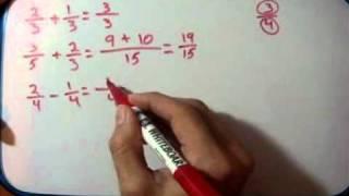Matemáticas 2º ESO: Operaciones con fracciones