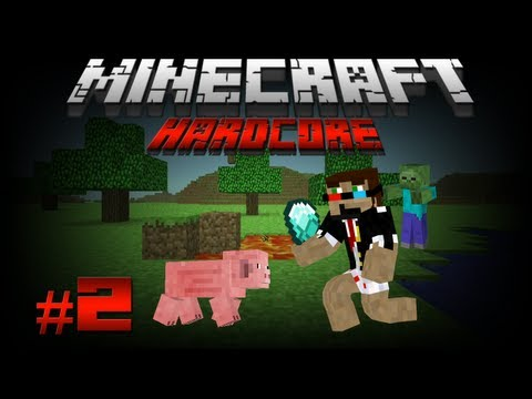 Minecraft: Exploring a Cave! Hardcore Style!. - Journey to The End (Hardcore) #2
