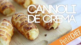 Cannoli con crema pastelera