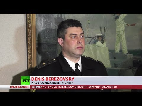 Ukraine's Navy chief swears allegiance to Crimea