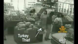 Woman Steals Turkey