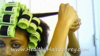 Roller Setting Natural Hair