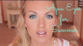 ❤ AQUA EYES for Summer w/ NEW BH Cosmetics Malibu Palette ❤