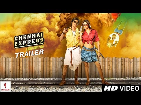 OFFICIAL TRAILER - Chennai Express - Theatrical Trailer - Shah Rukh Khan & Deepika Padukone