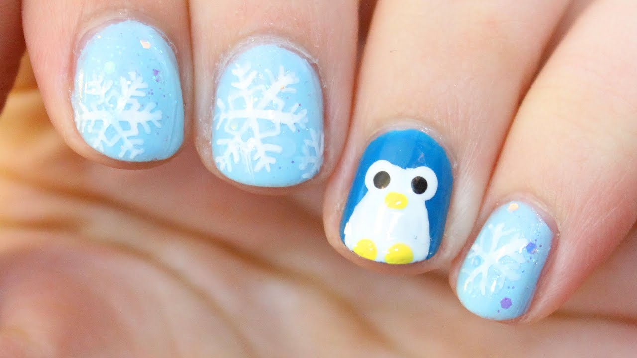 Penguin Nail Art - YouTube
