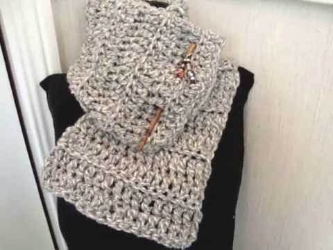 Youtube Crocheting A Scarf : ... BEGINNER COWL, scarf, crochet lessons, accessories, clothing - YouTube