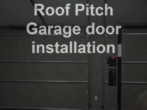 Roof pitch garage door installation youtube for Standard garage roof pitch