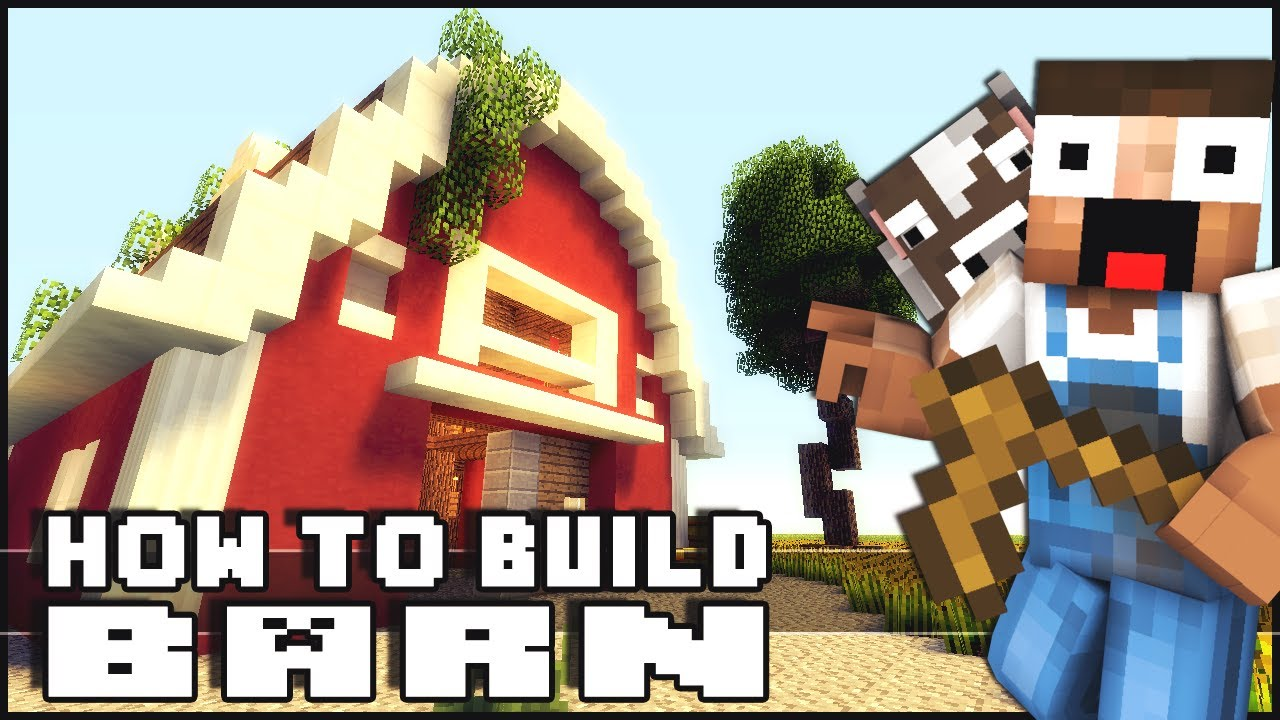 Minecraft How To Build A Barn Youtube