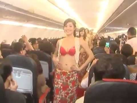 Vietnamese airline fined for in-flight bikini dance show Raw Video