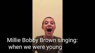 STRANGER THINGS CAST SINGING! (THEY'RE SO GOOD!)| Millie Bobby Brown, Finn Wolfhard,...