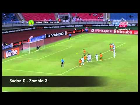Zambia  CHIPOLOPOLO Road to Africa Cup 2012 Glory   All the Goals