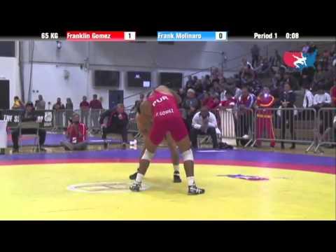 65 KG Men's Freestyle Finals - Frank Molinaro (SKWC) dec Franklin Gomez (Puerto Rico)