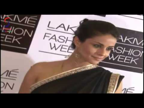 Hot Figure Babe Gul Panag In Transparent Saree Exposing Hot Maal