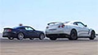 Godzilla Battles Super Snake! Nissan GTR Vs Shelby GT500
