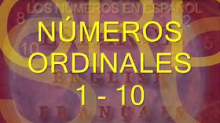 1 A 10 Números Ordinales En Español Ordinal Numbers In