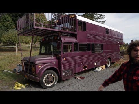 Tour Of Double Decker School Bus Conversion Tiny House