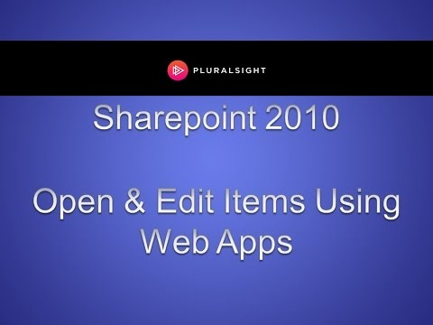 Open and Edit Sharepoint 2010 Items Using Office Web Apps