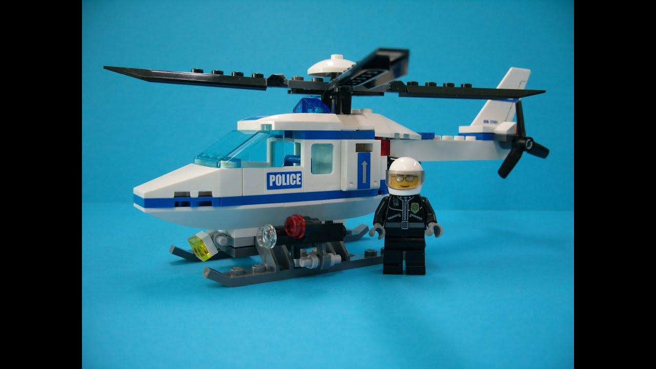lego city ��� police helicopter 7741 build review youtube