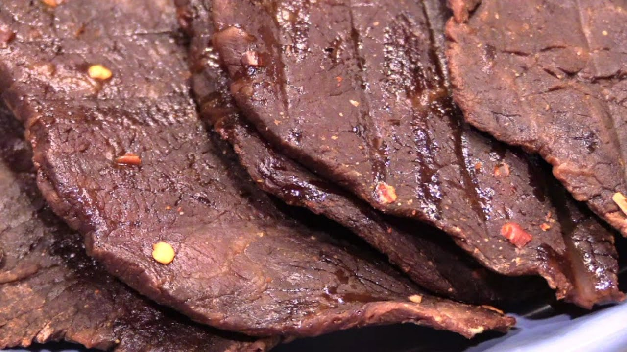 Homemade Beef Jerky in the Oven - YouTube