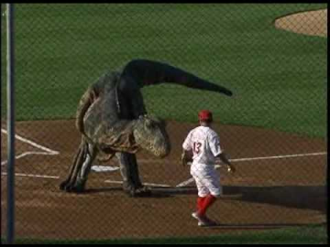 R-Phils Get Visit from Baby T-Rex