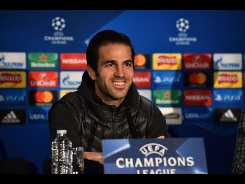 Cesc Fabregas and Antonio Conte - Champions League Press Conference