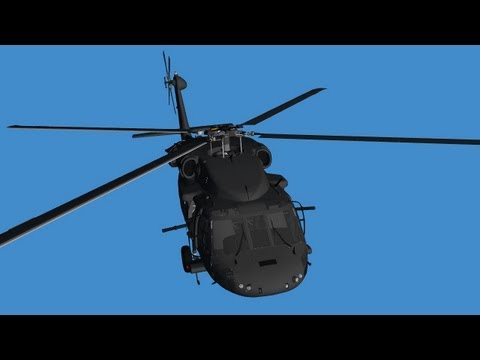 Helicopter - various flights - blue screen effect