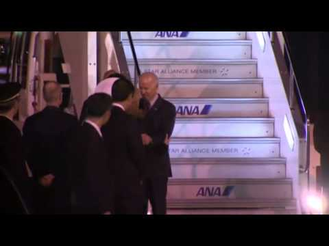 Raw: Vice President Biden Arrives in Japan