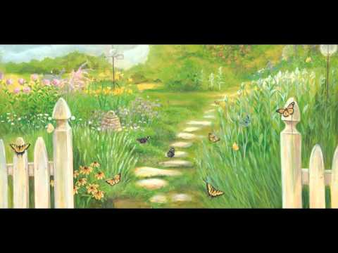 Butterfly garden mural nature youtube for Butterfly garden mural