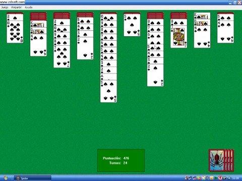 descargar juego de cartas solitario spider