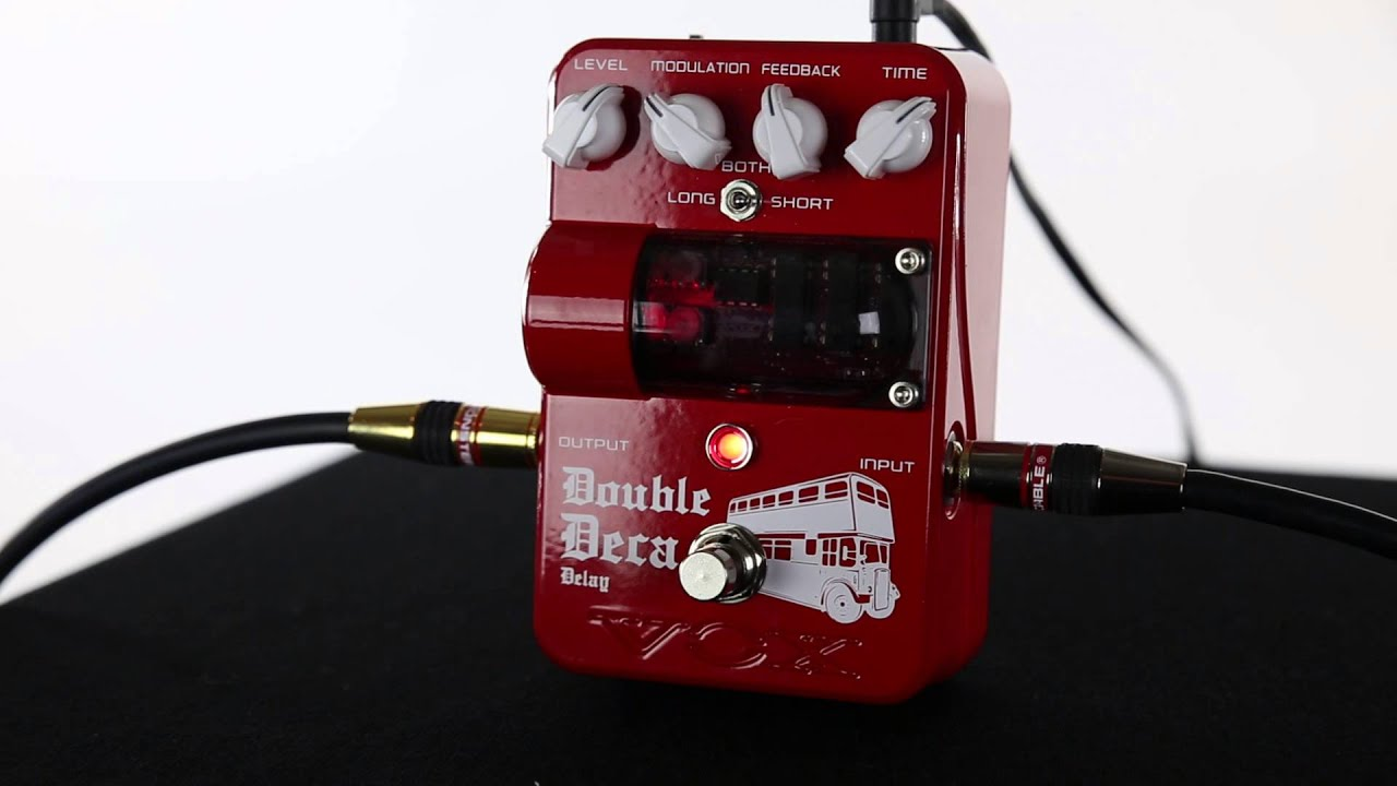 Vox In The Studio Freddy Demarco Demos The Double Deca Delay Pedal Youtube