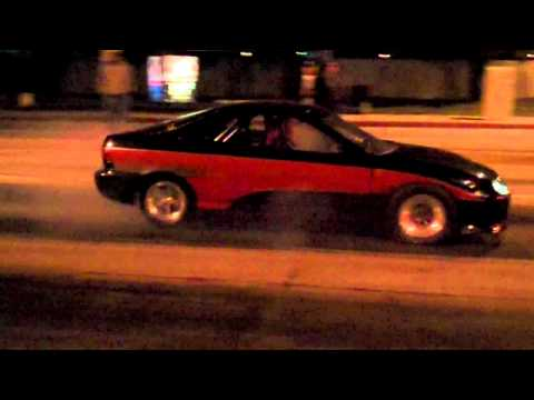 Breezy's Turbo Integra Vs 55 BelAir street racing