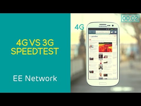 4GEE vs 3G Speedtest from EE