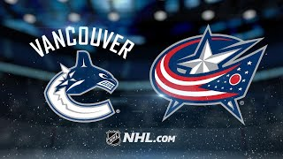 Vanek, H. Sedin lead Canucks past Blue Jackets, 5-2