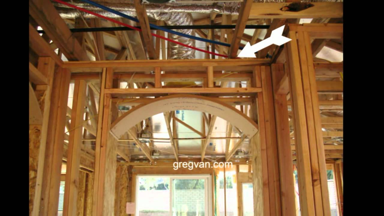 Interior Non Bearing Wall Engineered Roof Truss Youtube