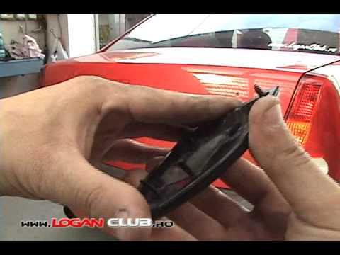 Tutorial scos sigla Dacia de pe portbagaj si bara fata la Logan
