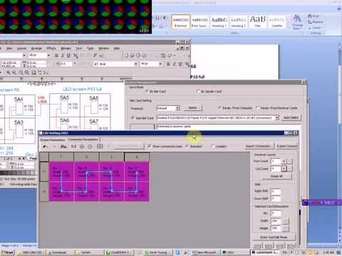 VNTK_25: Ledvision 3.25 Set up 2 màn hình led P8 link P10 full  Không cần card phát
