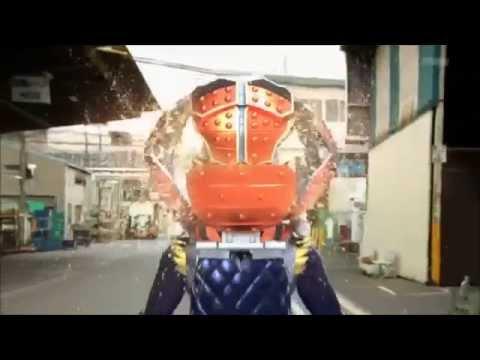 Kamen Rider Gaim Orange Arms first Henshin/henshin pertama kali