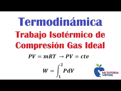 Trabajo Isotermico de Compresion para un Gas Ideal - Termodinamica - Video 155