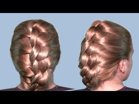 Прически Быстро Видео Урок Онлайн  Плетение волос узлами  Hairstyles Quick Video Tutorial 