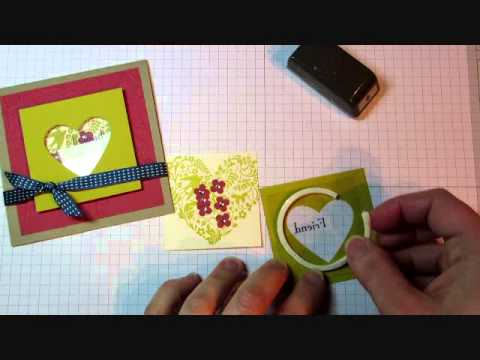 Stampin up shaker frames card tutorial youtube