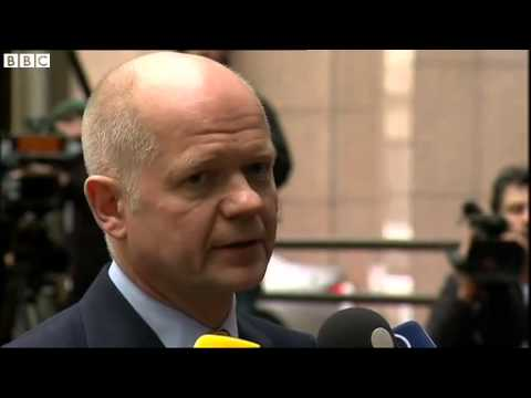 Hague  'Emphatic protest' at events in Ukraine