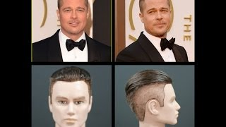 Brad Pitt NEW 2014 Oscars Inspired Haircut Tutorial