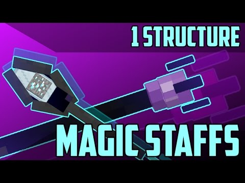 Magic Staffs in Minecraft - 1.11 Command Block Creation