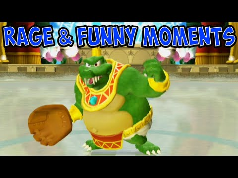 Mario Super Sluggers Rage and Funny Moments Pt.2 | Wii Week 2